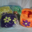 Puffy PLUSH HANDBAG Girls Purse FLOWERS (#33120)