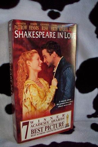 SHAKESPEARE IN LOVE Gwyneth Paltrow Ben Affleck VHS