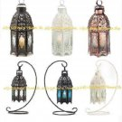 Moroccan CANDLE LANTERN Lattice Copper Wht Blk HANGING Or TABLETOP Choose From 6