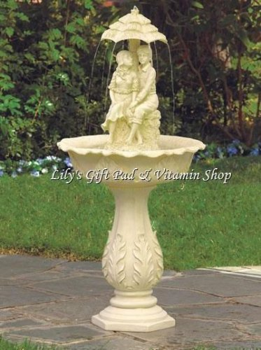 Young COUPLE WATER FOUNTAIN Outdoor Garden Accent SPRING Time (#32001)