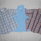 BOYS Lot Of 3 Short Sleeve Button Up Shirts SIZE 24 MONTHS Kids Clothes