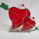 HEART Shaped TEALIGHT HOLDER Double Hearts With Arrow (#38224)