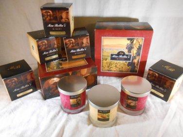 WINE SCENTED Jar CANDLES Reisleing Merlot Cabernet NATURAL WAX Mia BellasCandles