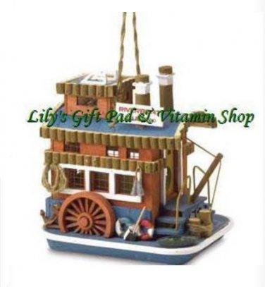 Riverboat BIRDHOUSE Queen Boat Outdoor SPRING TIME Garden Bird Houses (#37922)