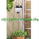 Solar Powered HUMMINGBIRD Hanging PLANT BASKET Outdoor GARDEN Decor (#14630)