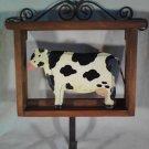 Wooden COW Wall Hook For Keys Or Coat BARNYARD Animal (#35114)