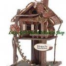 Treehouse BIRDHOUSE Tree House Outdoor SPRING TIME Garden Bird House (#32190)