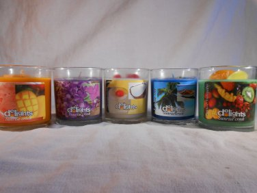 SCENTED Jar CANDLE Choose Ocean Mist Sweet Pea Pina Colada Mistic Mango Tropical