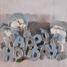 SNOWBUDDIES Happy Holidays CHRISTMAS Tree ORNAMENT Decor Snow Man (#38326)