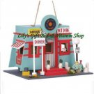 Fifties Diner BIRDHOUSE Outdoor SPRING TIME Garden Decor (#14775)