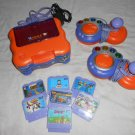 VTech V SMILE TV Learning System Lot With 7 Games SCOOBY DOO Toy Story SPIDERMAN
