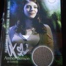 SUPERNATURAL Signed LENORE COSTUME Pieceworks Card PW-8 AMBER BENSON Tara BUFFY
