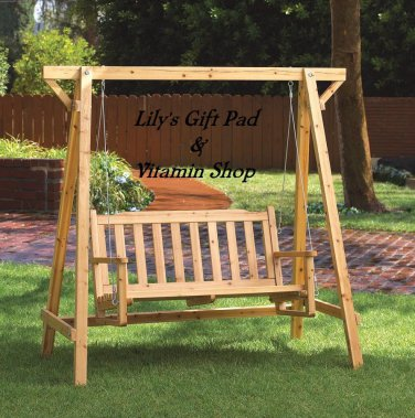 Garden CHAIR SWING BENCH Outdoor Patio Porch Lawn RUSSIAN PINE (#35107)