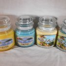 FRESH SCENTED CANDLE Jar LAUNDRY LINEN BREEZE Natural Wax Mia Bella's Candles