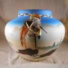 BUFFALO Ceramic POT Western Home Decor (#33158)