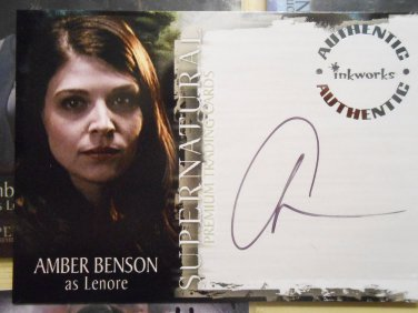 SUPERNATURAL Authentic LENORE Autographed Inkworks Card A-14 AMBER BENSON Buffy
