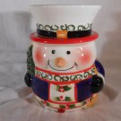 SNOWMAN CANDLE WARMER Tart Melt Oil HOLIDAYS CERAMIC Mia Bellas Candles