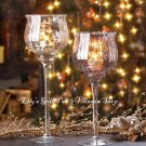 CHALICE CANDLEHOLDER Silver Golden HOLIDAY Christmas decor VOTIVE (10015360/1)
