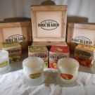 Mia Bella Scented ORCHARD CANDLE Apple Peach Melon Pear All Natural Wax CANDLES