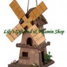 Windmill BIRDHOUSE Nautical Outdoor SPRING TIME Garden Bird House (#14777)