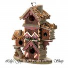 Gingerbread BIRDHOUSE Aviary Outdoor SPRING TIME Garden Bird House (#30206)