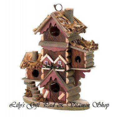 Gingerbread BIRDHOUSE Aviary Outdoor SPRING TIME Garden Bird House (#30206)