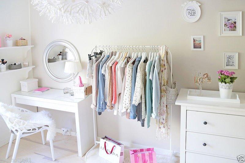 ikea white mulig clothes rail display rack coat dress rail stand free standing. Black Bedroom Furniture Sets. Home Design Ideas