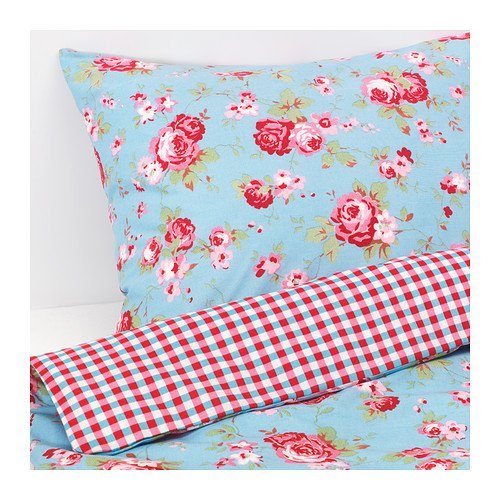 ikea rosali n cath kidston in blue double duvet cover bedding bed set. Black Bedroom Furniture Sets. Home Design Ideas