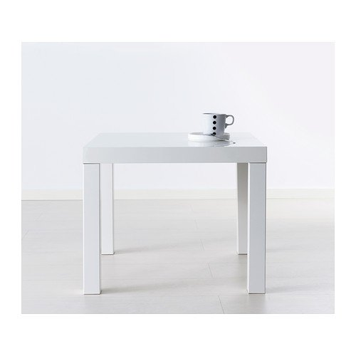 IKEA Lack Side End Coffee Table/High-Gloss White/ 55x55 cm