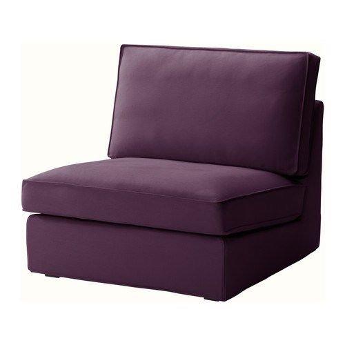 Ikea Kivik Single One Seat Chair Sofa Slipcover Dansbo Purple Armchair Cover