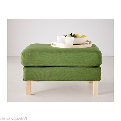 IKEA KARLSTAD Footstool Slipcover, Green/ 702.273.02/ NEW