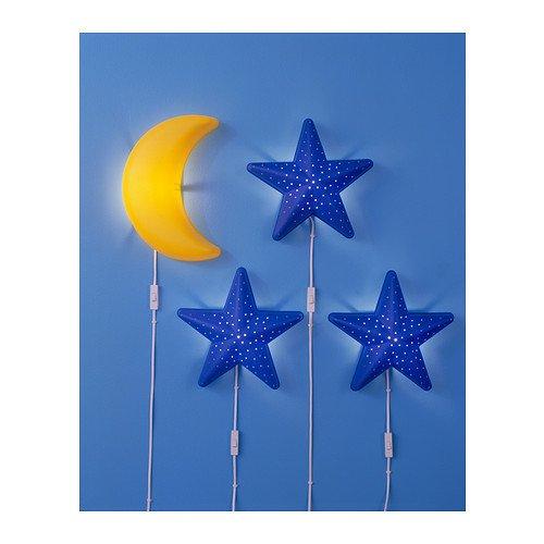 IKEA SMILA STJ�R STJAR KIDS CHILDRENS BLUE STAR WALL LIGHT