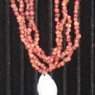 Pink Acai bead necklace