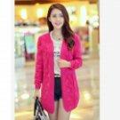 Fashion Wool Cardigan for Women - Deep Pink (Free Size)