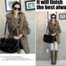 Fashion Fleeces Warm Coat w/ Hood for Women - Deep Grey