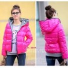 BNY-244266 Casual Cold-proof Keep Warm Hooded Coat for Women - Deep Pink (Free size)