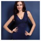 MO-001 Women's Warm Body Shaper Corset Vest - Deep Blue (XL)