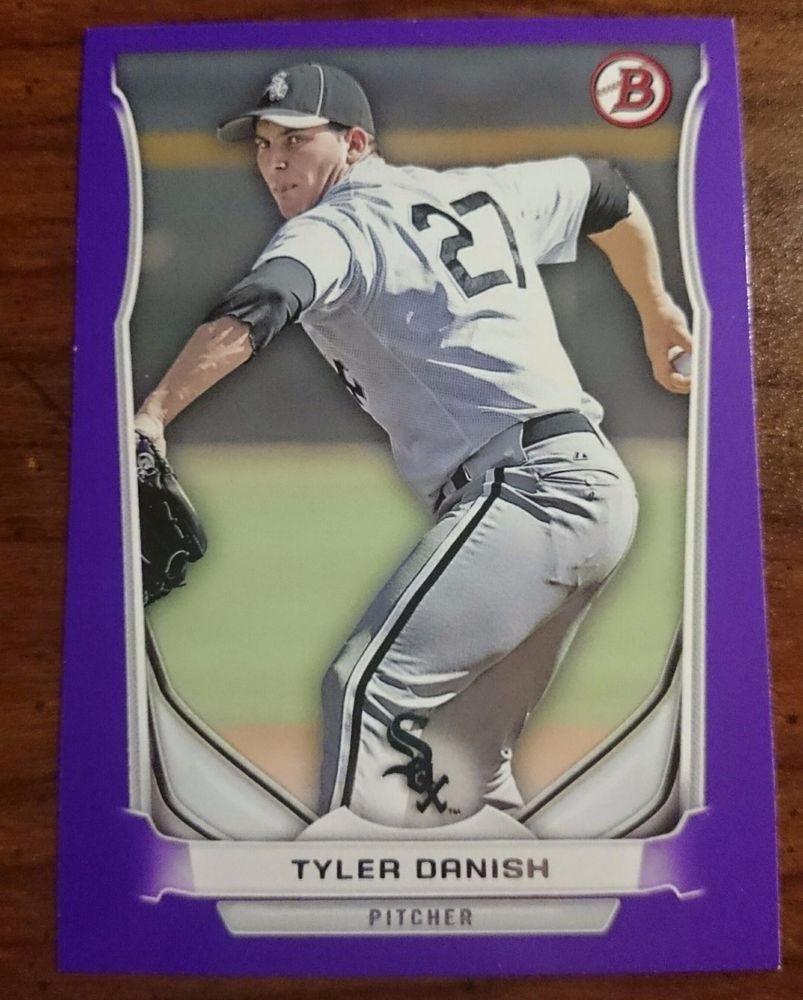 2014 Bowman Purple Tyler Danish #BP54 Chicago White Sox