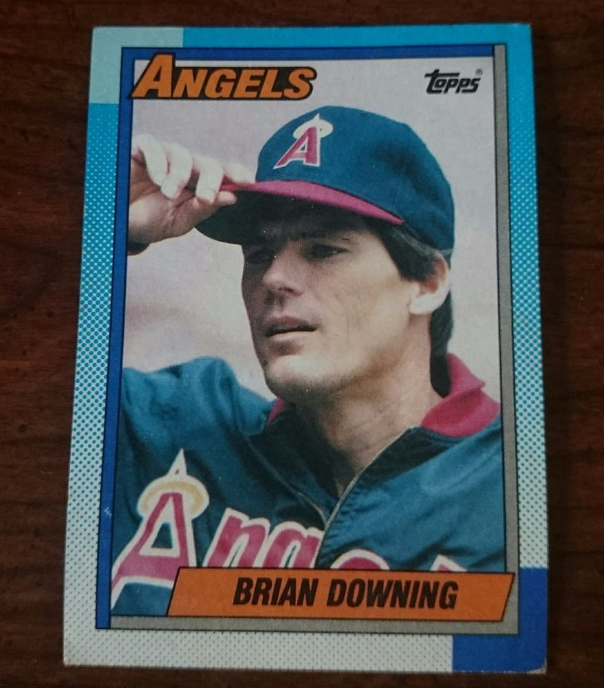 1990 Topps #635 Brian Downing Anaheim Angels