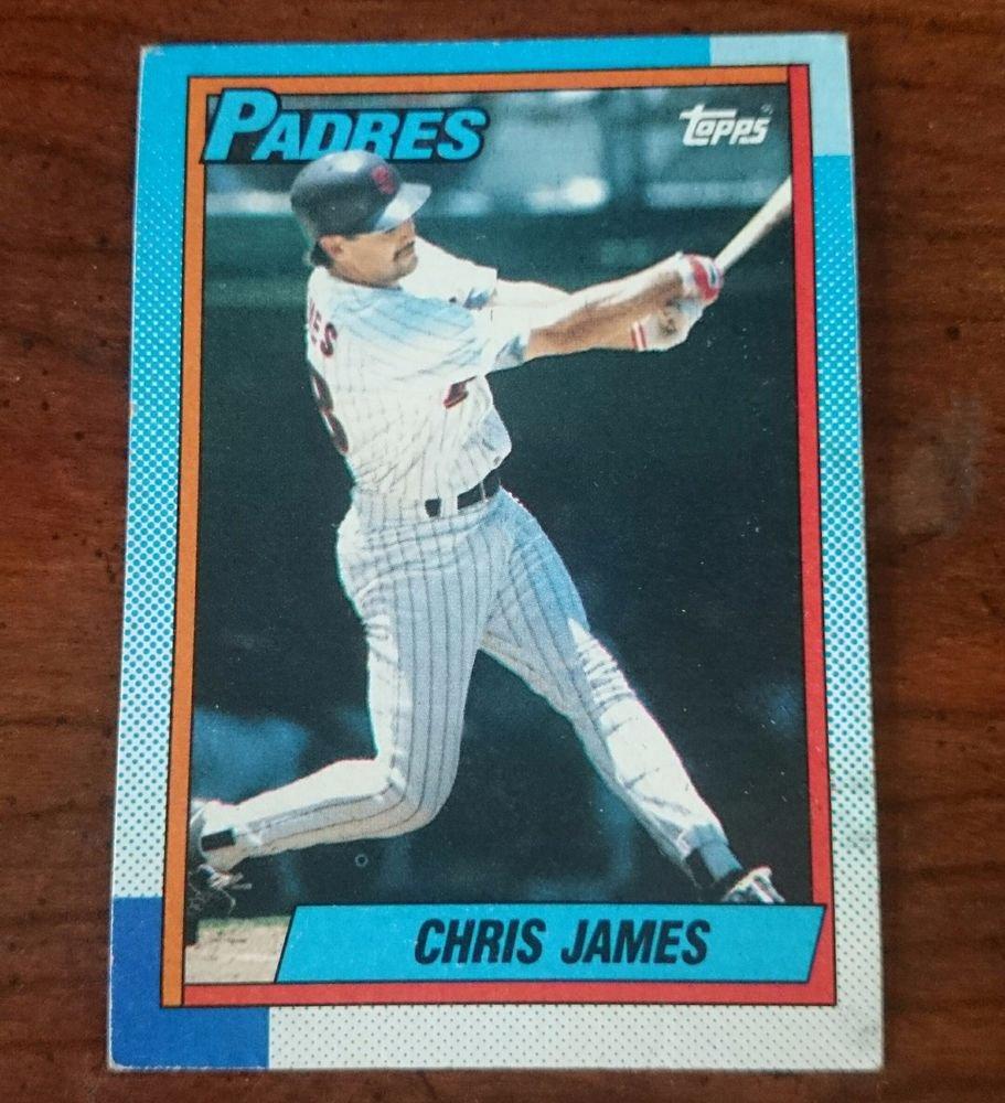 1990 Topps Chris James San Diego Padres Baseball Card