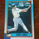 1990 Topps Chris James San Diego Padres Baseball Card