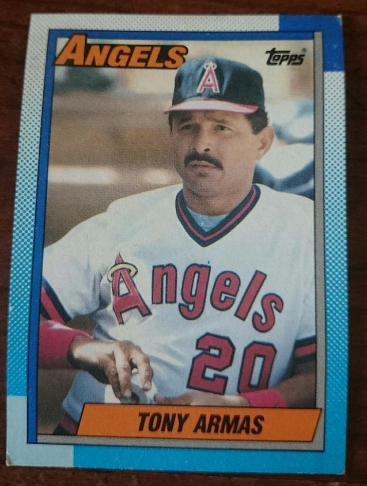 1990 Topps #603 Tony Armas Anaheim Angels Baseball Card