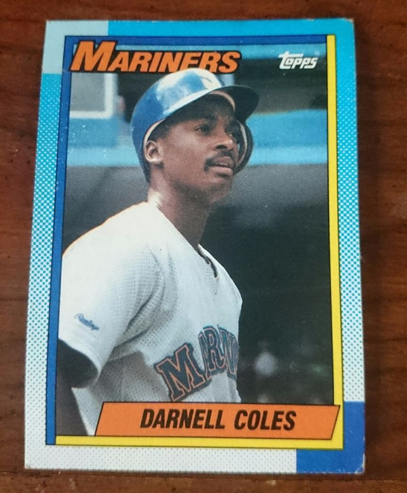 1990 Topps #232 Darnell Coles Seattle Mariners Baseball Card