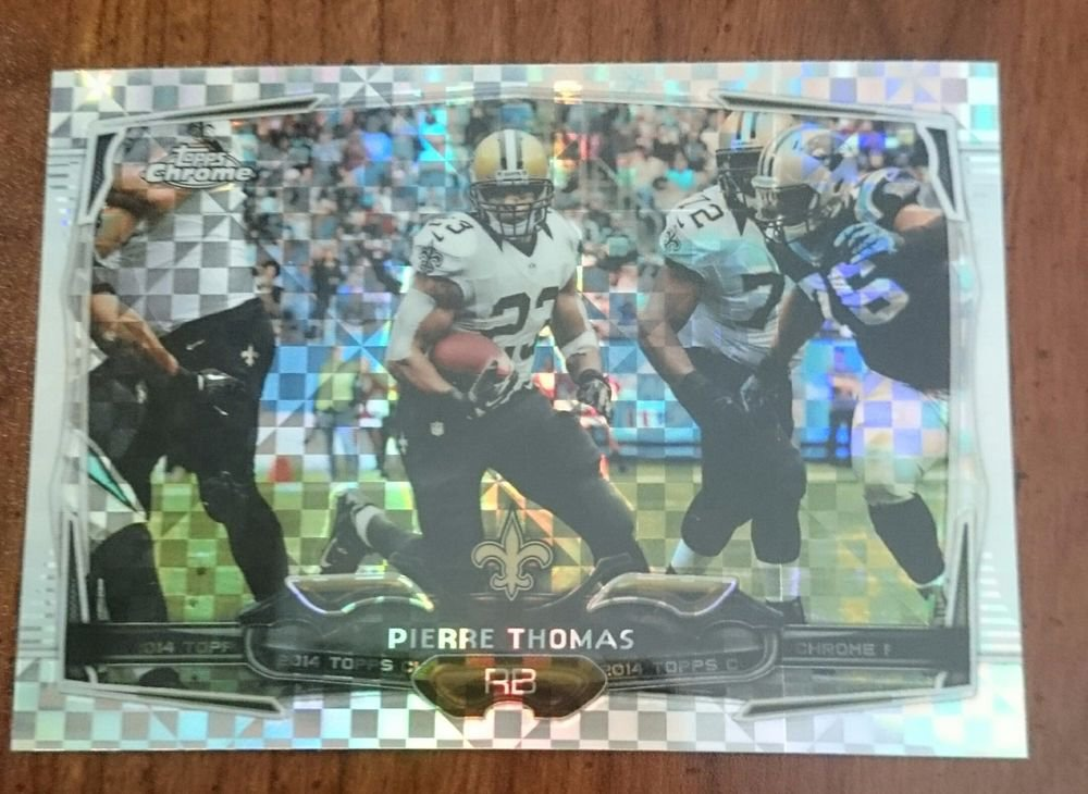 2014 TOPPS CHROME PULSAR REFRACTORS #16 PIERRE THOMAS New Orleans Saints
