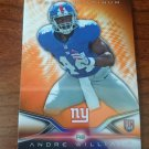2014 TOPPS PLATINUM ORANGE REFRACTORS #110 ANDRE WILLIAMS New York Giants