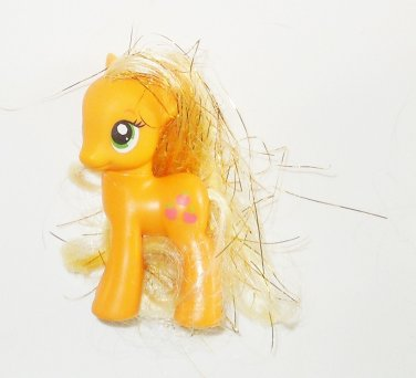"2011 Hasbro My Little Pony G4 MLP 2"" Applejack Symbol On Left Side Tinsel Hair"