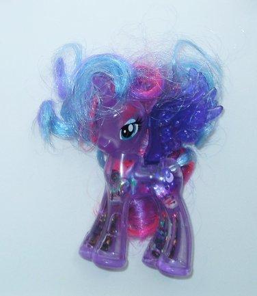 "2014 Hasbro My Little Pony 3.25"" Unicorn/Pegasus Transparent Trixie Lulumoon Brushable Hair"