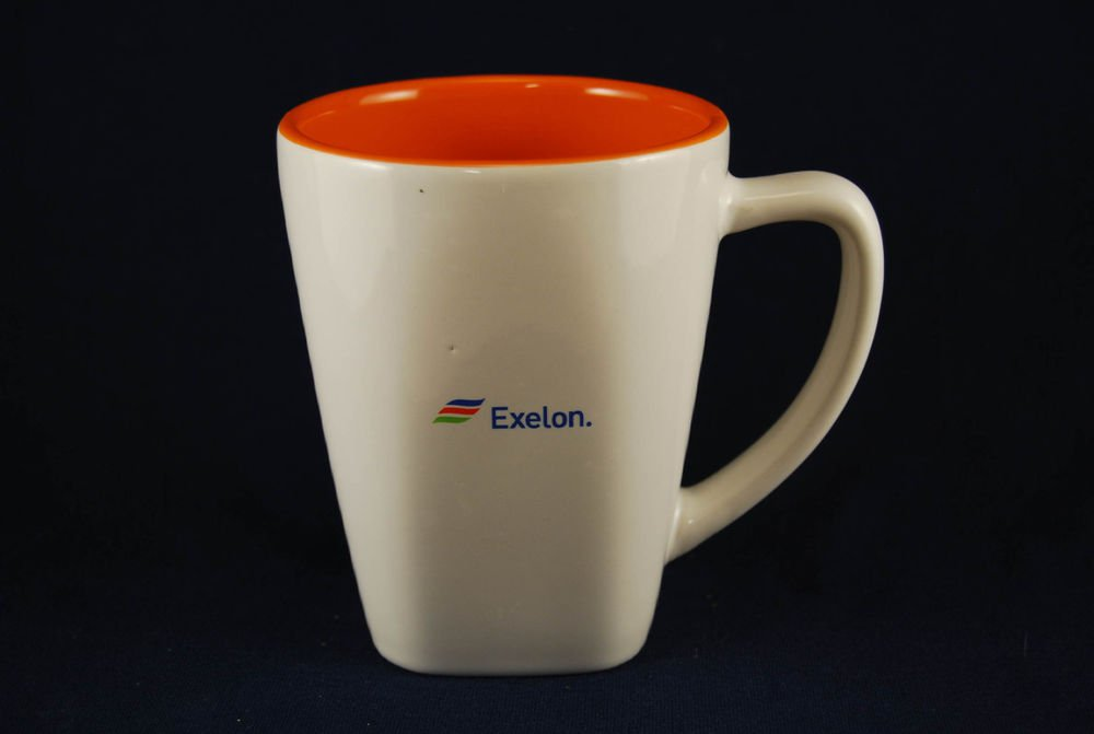 Exelon Logo Coffee Mug Cup White Orange Ron Santo Walk Cure Diabetes JDRF