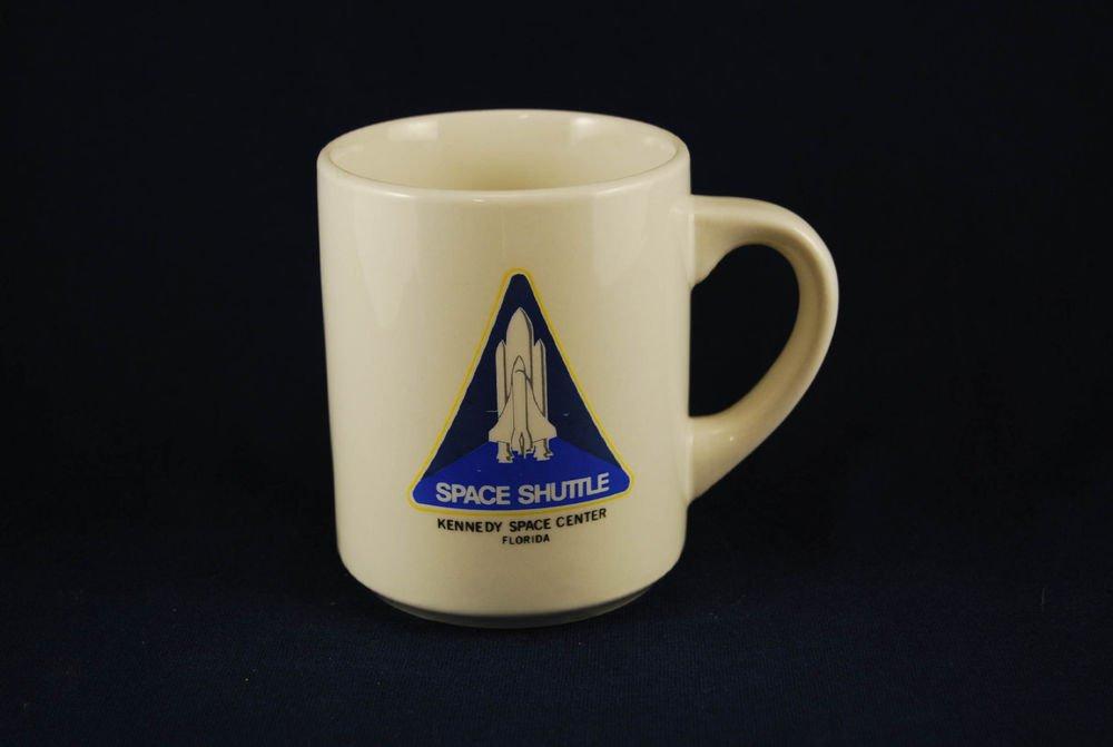 NASA Space Shuttle Program Logo Ceramic Coffee Mug Cup White Kennedy Florida
