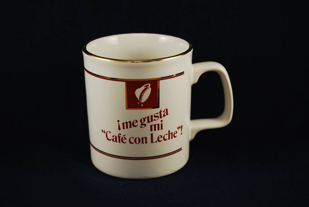 Maxwell House Ceramic Coffee Mug Cup Spanish Me Gusta Mi Cafe Con Leche